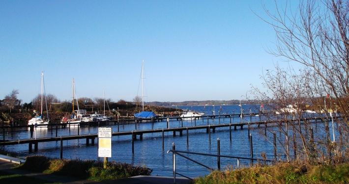 Ein schöner Blick auf den schmucken Yachthafen, der gleich neben der Ferienwohnung Fiedler liegt.